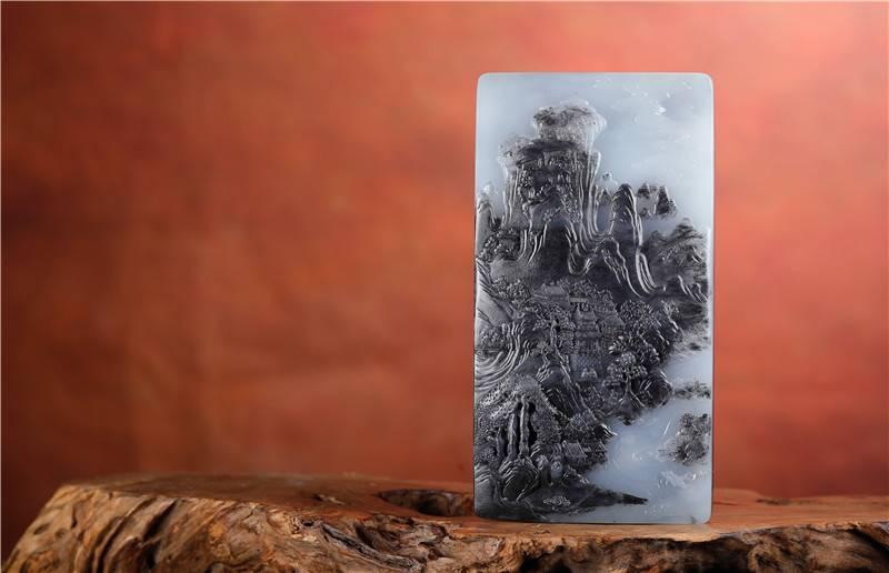 和田玉百科(8)——和田玉里的天然水墨画:青花!